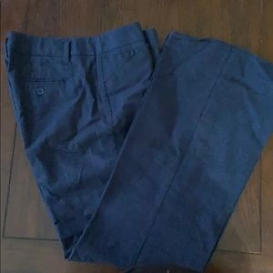 Denim colored linen pants